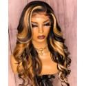 Brazilian virgin human hair blonde loose wave 5*5 HD lace closure wig--HD774