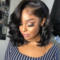 Side parting messy bob vibes 360 lace frontal wig - BC283