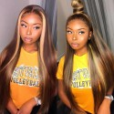 Stock Brazilian virgin highlights color 13*4 HD lace front 150% density wig--BH242