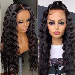 Stock beyonce wave 5*5 HD skin melt lace closure wig--HD005