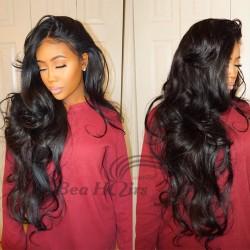 Stock Brazilian virgin body wave bleached knots full lace wig-[WWW333]