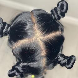 brazilian virgin jet black color hand-tied glueless full lace silk top wigs--BSB345