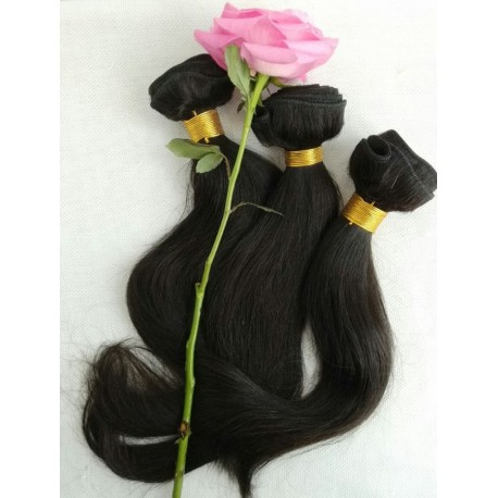 3 bundles 100% Malaysian virgin silk straight-unprocessed