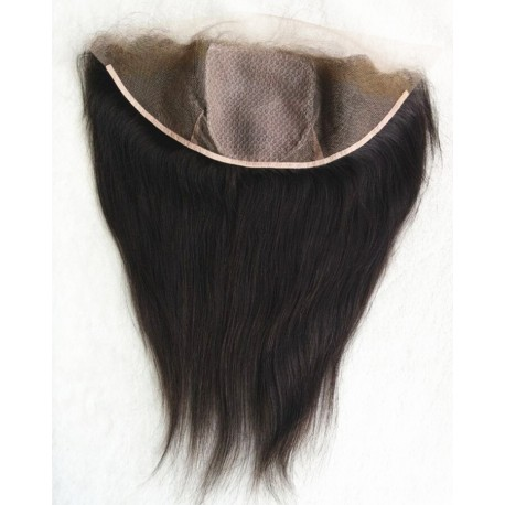 Burmese virgin silk straight silk base frontal