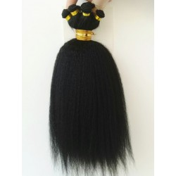 Brazilian virgin hant tied kinky straight wefts