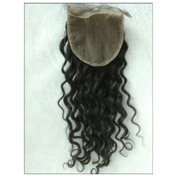 Brazilian virgin curly 4x4 lace top closure