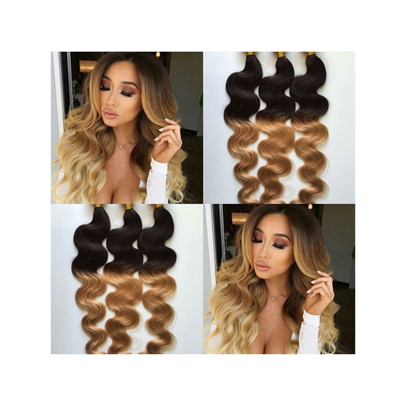 Best Brazilian Virgin Body Wave Ombre Hair Extensions For Black Women