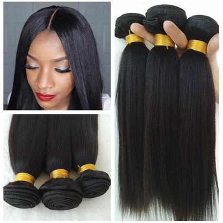 Stock Best Brazilian Virgin Yaki Texture Human Hair Weave