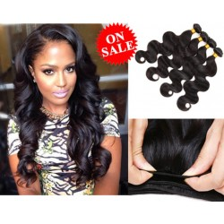 7A 100% brazilian virgin 4 bundles body wave wefts-unprocessed