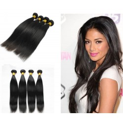 7A 100% brazilian virgin 4 bundles silk straight wefts-unprocessed