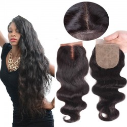 On sale--Brazilian virgin body wave silk base closure