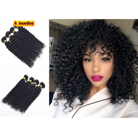 7A 100% brazilian virgin 4 bundles curly wefts-unprocessed