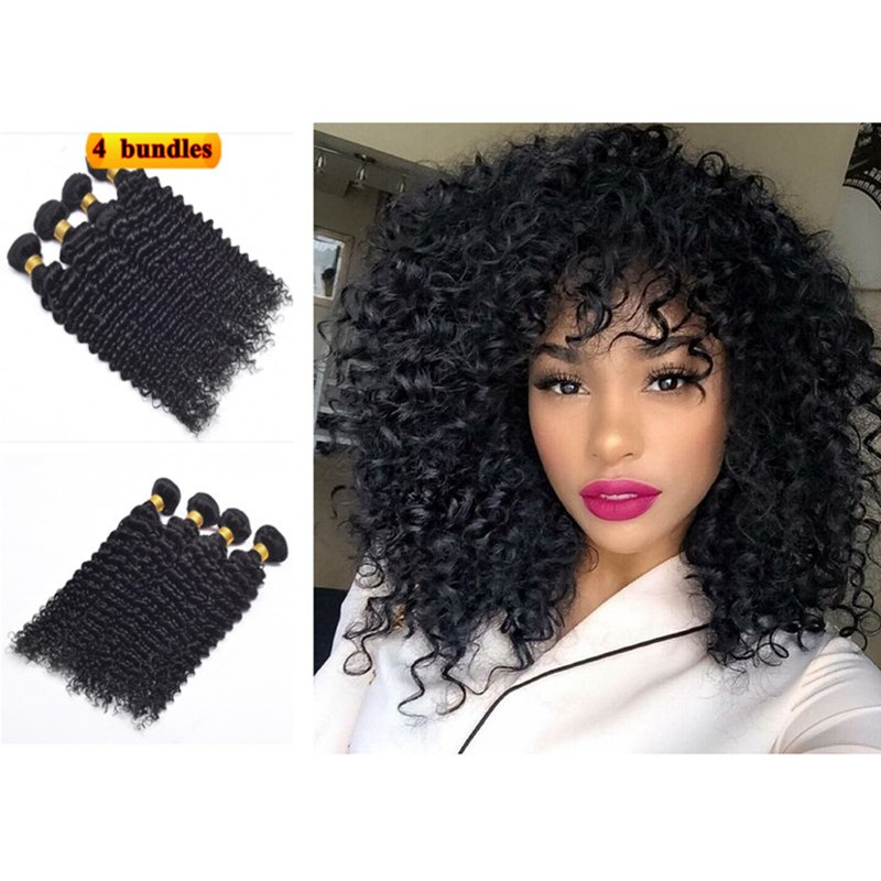 In Stock Brazilian Virgin Curly Texture Human Hair Weaves