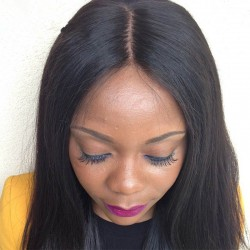 Brazilian virgin silk straight silk base top closure