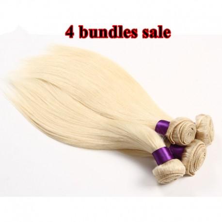 4 bundles deals--Brazilian virgin silk straight color60 for Brazil white people