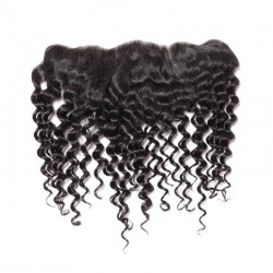 Brazlian virgin curly lace frontal--in stock