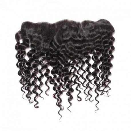 Brazlian virgin curly lace frontal--in stock