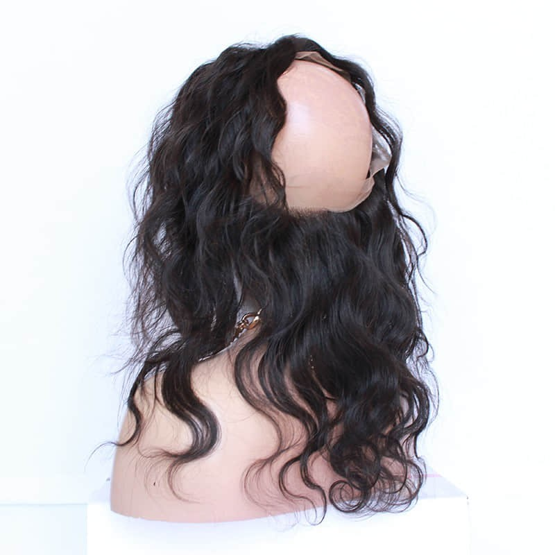 Brazilian virgin body wave 360 lace frontal closure with baby hair 8c7d702eb