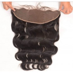 Brazilian virgin body wave lace frontal for black women