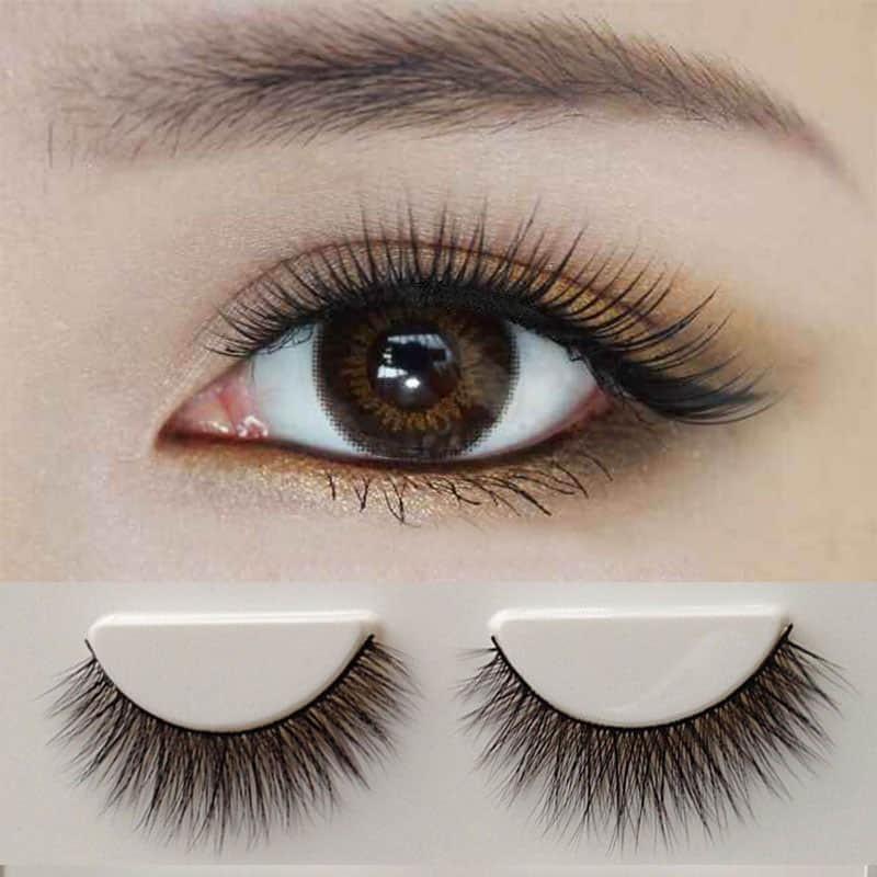 3f9f8e3b802 1 Pair 100% Mink Hair Long False Eyelashes Eye Lashes Extens. Loading zoom