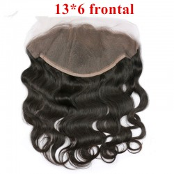 13*6 Brazilian virgin body wave lace frontal for black women