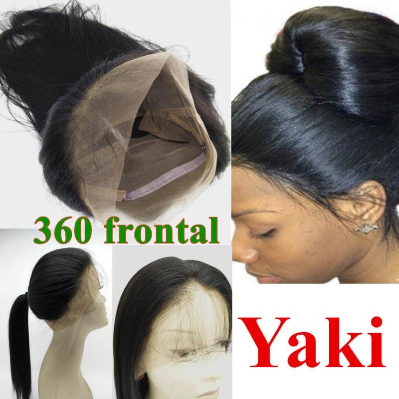 Brazilian Virgin 360 Lace Frontal Closure Light Yaki