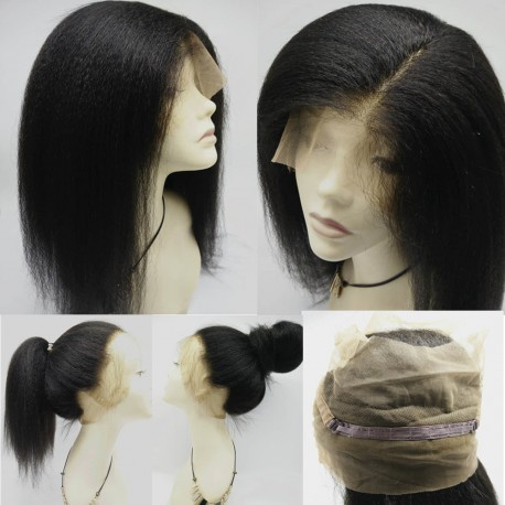 Brazilian virgin 360 Lace Frontal closure kinky straight,mimic African American