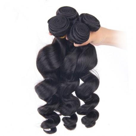 Brazilian virgin loose wave natural color weaves 4 bundles deals