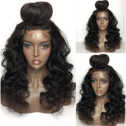 Brazilian virgin Ocean Wave pre plucked wig -[WWW111]