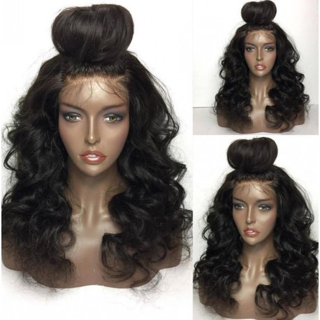 Brazilian virgin Ocean Wave wig with pre plucked hairline