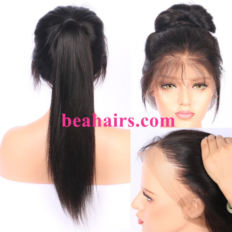 f67e03eb6049 Malaysian virgin silky straight glueless full lace silk top wig- bh333 .  Loading zoom