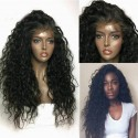 Pre-plucked Brazilian virgin Curly Wave 360 frontal lace full wig-[HY666]