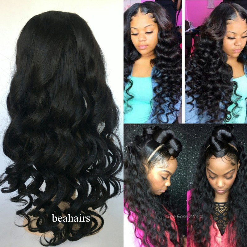 Brazilian virgin Loose Wave 360 frontal lace wig- HY999  - Bea Hairs 145be99f1