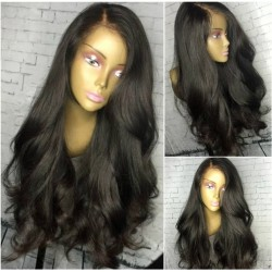 Brazilian virgin natural wave 200% density full lace wig-[HT566]