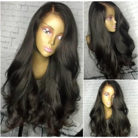 Brazilian virgin natural wave 200% density full lace wig-[HT666]