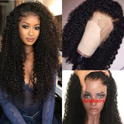 brazilian virgin Jerry Curl full lace silk top wig--[JC001]
