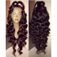 Pre-plucked Brazilian virgin Ocean Wave 360 frontal lace full wig-[BW666]