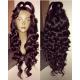 Pre-plucked Brazilian virgin Ocean Wave 360 frontal lace full wig-[BW666]