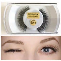 1 Pair 100% Mink Hair Long False Eyelashes Eye Lashes Extens