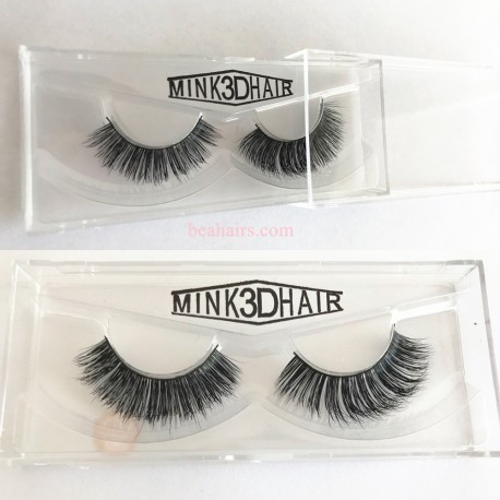 1 Pair 100% Mink Hair Long False Eyelashes Eye Lashes Extens