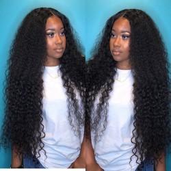 Brazilian virgin Water Wave glueless lace front wig---[WW888]