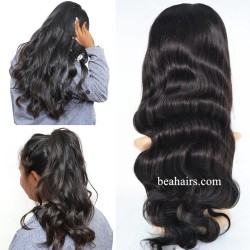 Brazilian virgin body wave glueless lace front wig---[LA005]