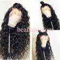Flash sale--Pre plucked Brazilian virgin Beyonce wave 360 frontal lace full wig-[HT988]