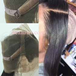 brazilian virgin 360 Lace Frontal closure straight texture with Baby Hair