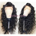 On Sale--pre plucked Brazilian virgin human hair Beyonce wave 360 frontal lace full wig-[HT988]