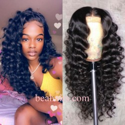 Pre-plucked Brazilian virgin Beach Wave 360 frontal lace full wig-[HY262]