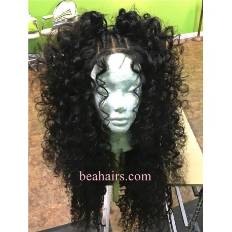 50% off--Pre-plucked Brazilian virgin Big Wave 360 frontal lace full wig-[BH888]
