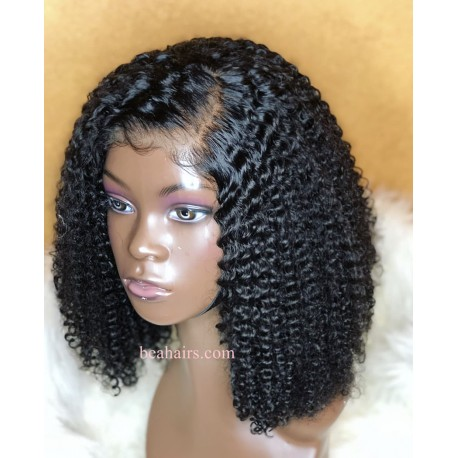 50% off--pre plucked Brazilian virgin Jerry Curl 360 lace full wig---[JC666]