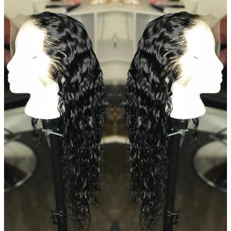 Brazilian virgin Wet Wave full lace bleached knots wig
