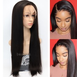 Brazilian virgin light yaki 360 frontal wig with weaves sewn in-[HY888]